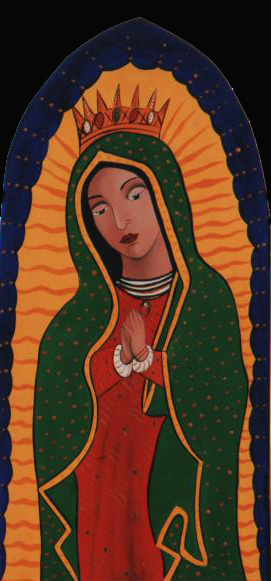 Guadalupe, reproduction of Guadalupe, folkart Guadalupe