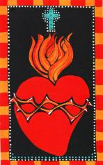 Sacred Heart, Flaming Heart of Jesus
